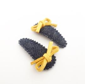 Haarspeldjes gele strik