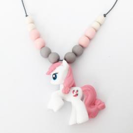 Kinderketting unicorn lichtroze