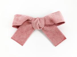 Klassieke strik corduroy roze