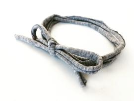 Knoop haarbandje licht grijs