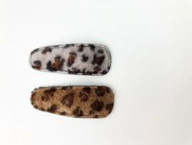 Haarspeldje pluche leopard