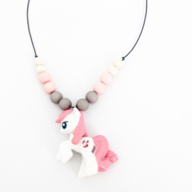 Kinderketting unicorn lichtroze