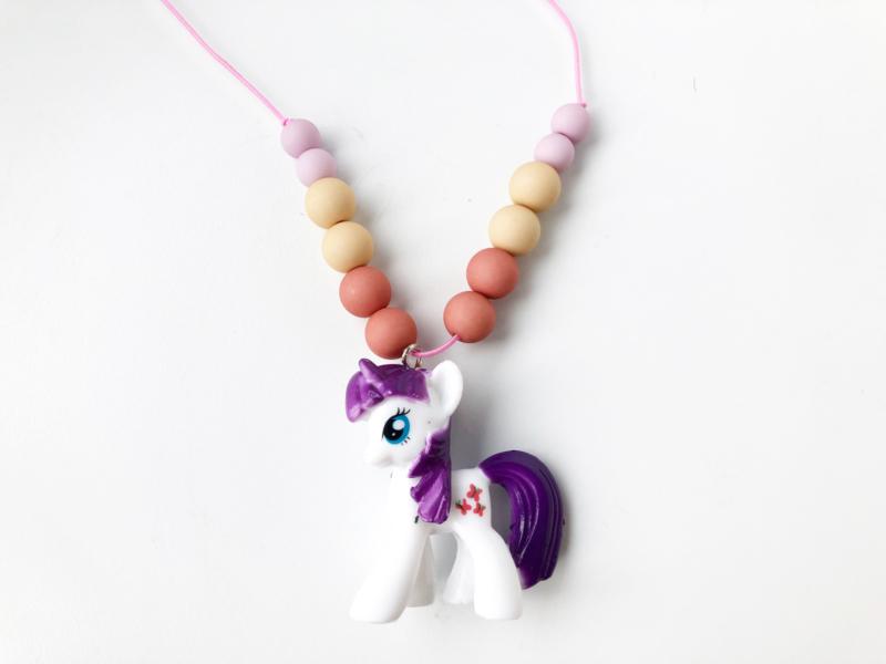 Kinderketting unicorn  paars