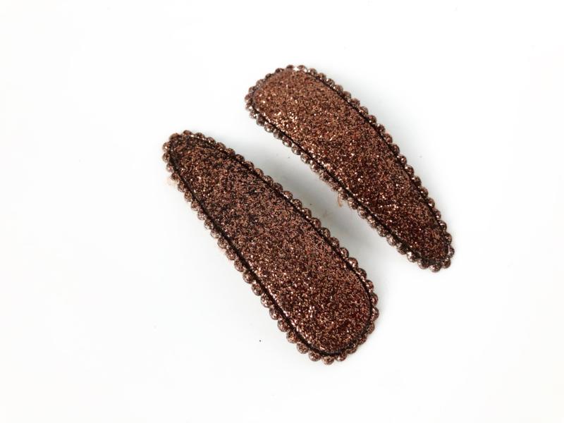 Haarspeldjes glitter bruin