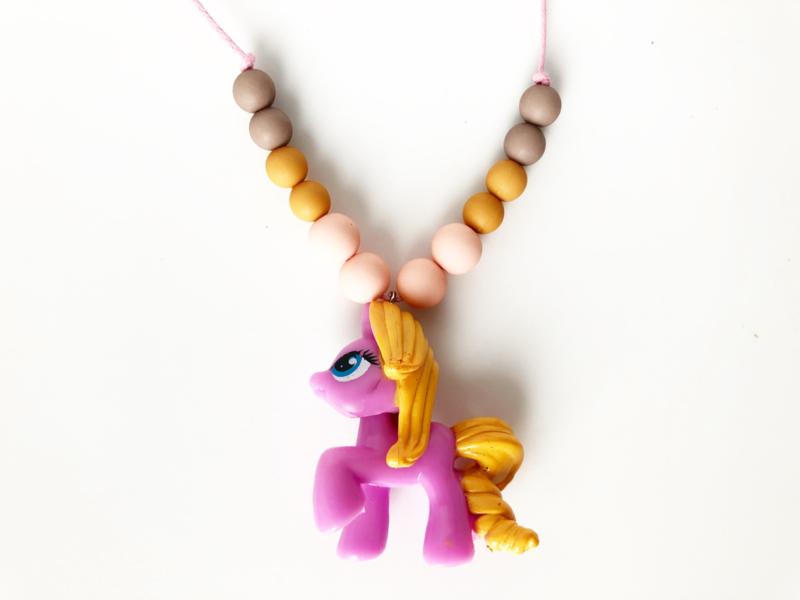 Kinderketting unicorn  lila