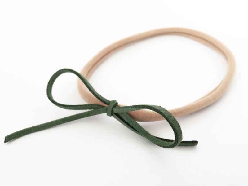 Haarbandje groene strik