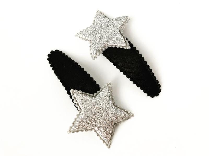 Haarspeldjes ster zilver
