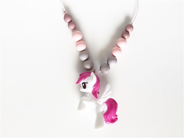 Kinderketting unicorn  roze