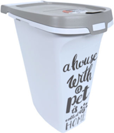 Moderna plastic voorraadbox Trendy Story 10 liter 'Pet Wisdom'.