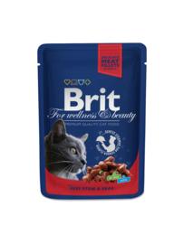Brit pouches beef stew & peas 10 x 100 g