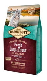 Carnilove kattenbrok Karper en Forel