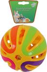 Plastic knaagdier bal met bel, 12,5 cm.