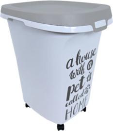 Moderna plastic voorraadbox Trendy Story 38 liter 'Pet Wisdom'.