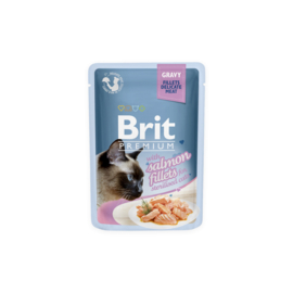 Brit Premium Pouches Fillets in Gravy Salmon 85 gram
