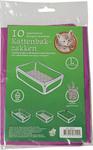 Bio-kattenbakzak lavendel pak à 10 stuks, large.
