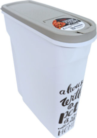 Moderna plastic voorraadbox Trendy Story 5 liter 'Pet Wisdom'.