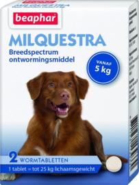 Beaphar milquestra hond 2 tbl 5kg tot 25 kg
