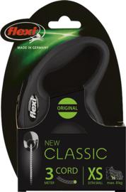 flexi rollijn CLASSIC cord XS, zwart.