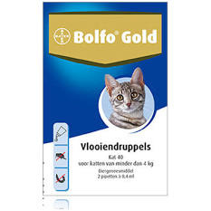 Bolfo gold kat 40 2 pipetten