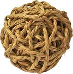 Knaagdierbal met bel natural, 8 cm.