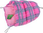 Knaagdier slaapzak pluche roze, 25 cm.