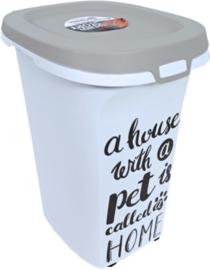 Moderna plastic voorraadbox Trendy Story 20 liter 'Pet Wisdom'.