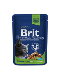 Brit pouches chicken slices 10 x 100 g