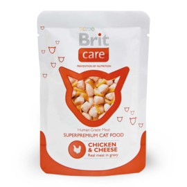Brit care pouches chicken&cheese 10 x 80 g