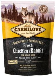 Carnilove FRESH Kip en Konijn 1,5 kilo