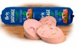 Brit Meat Sausage Turkey & Peas 800 gram