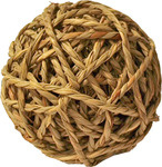 Knaagdierbal met bel natural, 10 cm.