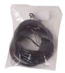 Poezenvastleglijntje zwart, 3 mm/5 meter, nylon.