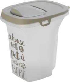 Moderna plastic voorraadbox Trendy Story 6 liter 'Pet Wisdom'.