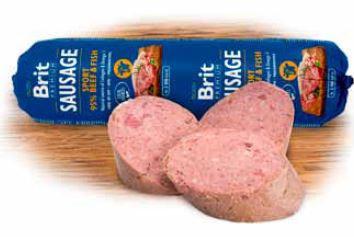 Brit Meat Sausage Beef & Fish Sport Formula 800 gram