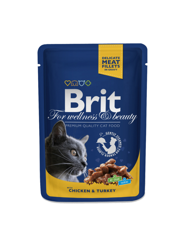Brit pouches salmon and trout 10 x 100 g
