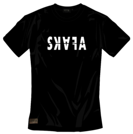 BLACK TSHIRT - SKAFA WHITE