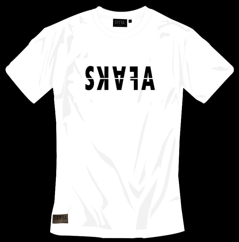 WHITE TSHIRT - SKAFA BLACK