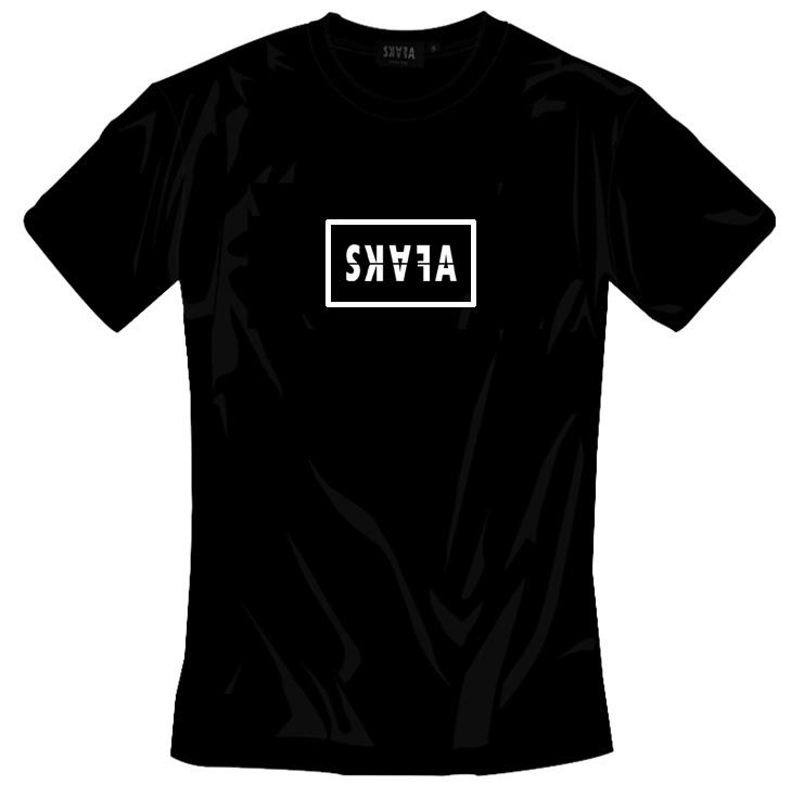 BLACK TSHIRT - SKAFA BLOCK