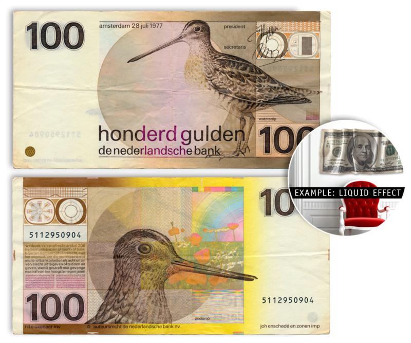 100 Gulden - wallsculpture