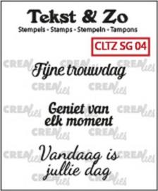 Crealies Clearstamp Tekst&Zo Speciale Gelegenheden 4 (NL) 33 mm CLTZSG04 130505/2304