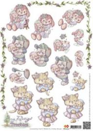 3D A4 Knipvel Amy Designs Treebies geboorte - CD10272