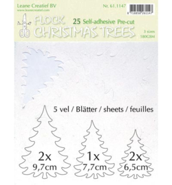 Leane Creatief Flock Paper -White 61.1147