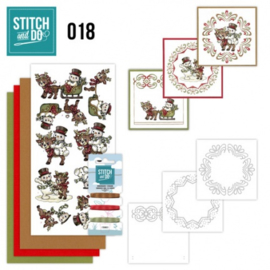 Stitch and Do 18 - Snowman and Reindeer STDO018