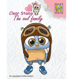 Nellie clear stamp The owl family CSO009