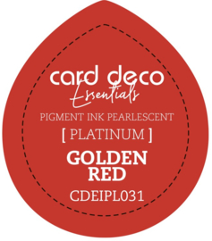 Card Deco Essentials Fast-Drying Pigment Ink Pearlescent Golden Red CDEIPL031