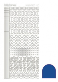 Hobby dots sticker Mirror Blue 017 STDM17A