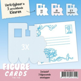 Figure Cards - Trein - Babyblauw FC4K10001-27