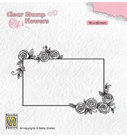 Nellie FLO019 - Rectangle frame with roses