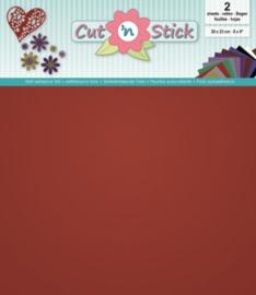 Cut 'n Stick 2x Mirror Red 20x23 3.0503