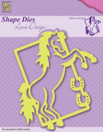 Shape Die Lene Design Horse in frame SDL004